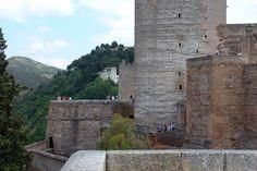 Alcazaba. Torre del Cubo y Torre del Homenaje.