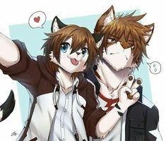 I think their are cute gay couples or pals which one it is. Anime Furry, Anime Wolf, Equipe Pokemon, Cartoon Wolf, Furry Oc, Furry Drawing, Anthro Furry, Character Art, Anime Characters