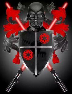 Vader coat of arms Anakin Vader, Vader Star Wars, Star Wars Toys, Darth Vader, Anakin Skywalker, Amidala Star Wars, Star Wars Tattoo, Star Wars Fan Art, Star War 3