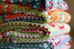 Crochet Blankets by snailtrail.co.uk vw camper hire, via Flickr