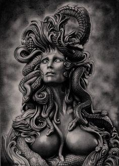 Medusa drawing