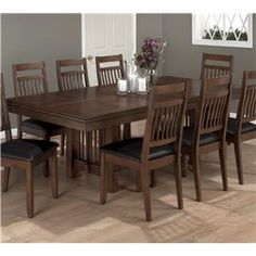 Jofran Lewis Oak Rectangle Table with Casual Family Dining Table Style - Zak's Fine Furniture - Dining Room Table