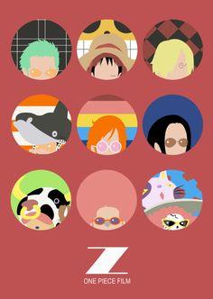 One Piece Film Z Minimalist Poster Ver.2 by MinimallyOnePiece
