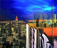 """The view from """"The Top of the Rock"""" Rockefeller Center #NYC"""