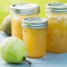 Perenjam met vanille. I.p.v. geleisuiker kan je ook agar agar als bindmiddel gebruiken. Wel zo gezond!