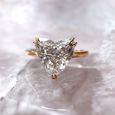 Give her your heart ❤️ let your ring be a symbol of the eternal love you and your partner share! Traditional Engagement Rings, Best Engagement Rings, Solitaire Setting, Heart Shaped Diamond, 18k Rose Gold, Heart Shapes, Wedding Bands, Heart Ring, Bling