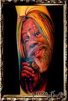 足,ふくらはぎ,男性,ポートレイト,ポートレート,カラー,カラフルのタトゥーデザイン|タトゥーナビ