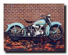 Buy 1938 Aqua Harley Davidson Vintage Motorcycle Wall Decor Art Print Poster (16x20) - Topvintagestyle.com ✓ FREE DELIVERY possible on eligible purchases