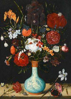 Ambrosius Bosschaert the Elder Still Life with Flowers 17th century Via: Stillifequickheart