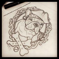 french bulldog pirate tattoo - Google Search
