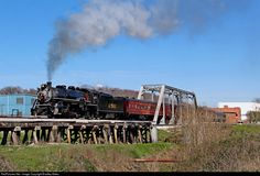 SOU 2-8-2 Steam Engine #4501 leads Tennessee Valley Railroad Museum (TVRM) Steam Excursion 300 South across the Chattooga River in Trion, GA. On their way to Summerville, GA. Then back to Chattanooga, TN. Photo by Bradley Bates