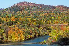 dazzling displays of color - Bear Mountain Bridge, Hudson, New York.