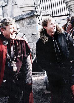 Merlin behind the scenes, I love how happy they always look