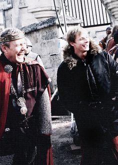 Merlin behind the scenes, I love how happy they always look