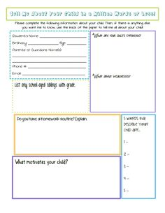 Different Student Interest Surveys On Favorites Family School