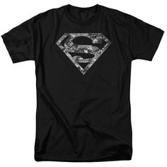 Shop for Superman/Urban Camo Shield Short Sleeve Adult T-Shirt in Black. Get free delivery On EVERYTHING* Overstock - Your Online Men's Clothing Store! Camo, Superman Shirt, Superman Logo, Rock Shirts, Quality T Shirts, Edgy Outfits, Shirt Designs, T Shirts For Women, Mens Tops
