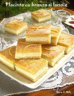 Placinta-cu-branza-si-lamaie Romanian Food, Romanian Recipes, No Cook Desserts, Food Cakes, Cake Cookies, Hot Dog Buns, Cake Recipes, Bakery, Good Food