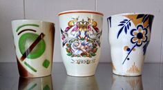 THREE ART DECO MAASTRICHT CERAMIC CUPS | Maastricht - The Neherlands | First half 20th century | @Catawiki Online Auctions