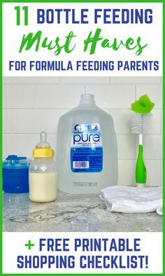 Find out which 11 items are absolute bottle feeding must haves that every formula feeding parent needs. Plus, get a free shopping checklist printable! Picture For baby care poster For Your TasteYou are looking for Formula Feeding Newborn, Formula Fed Babies, Baby Feeding, Formula Baby, Formula Feeding Chart, Infant Formula, Good Parenting, Parenting Hacks, Bottle Feeding Breastmilk