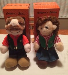 "Mr. Handy Andy and Mrs. Handy Andy Plush Dolls 14"" Set of 2 Dolls 1980s NIB"