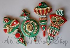Christmas ornament cookies by Ali Bee's Bake Shop