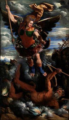 Dossi, Dosso (1490-1542) und Dossi, Battista (1474-1548):  Der Erzengel Michael…