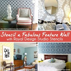 Stencil Inspiration for Accent and Feature Walls