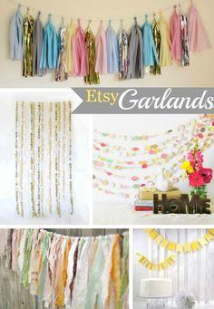 True Event- Color, DIY, and Etsy Garlands (www.trueevent.com)