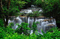 Thailand Beauty - Location : Huai Mae Kamin waterfall  Kanchanaburi province, Thailand