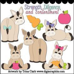 Donkey Doodles 1 Clip Art