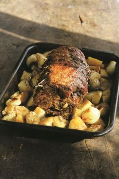 Slow-roast beef brisket with potatoes and onions from River Cottage Everyday Slow Roast Beef Brisket, Oven Roasted Brisket, Oven Roast Beef, Slow Cooker Brisket, Beef Brisket Recipes, Smoked Beef Brisket, Pork Recipes, Oven Brisket, Recipies