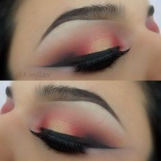 The amazing Kim J Luv using Makeup Geek's Jackpot pigment in the center for the added glow effect! Love this look!
