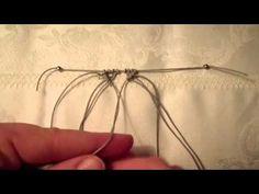 Tutorial: Macramè - Cordoncino obliquo incrociato e come inserire perline nella lavorazione