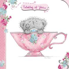 Thinking of You Tatty Teddy in Teacup Me to You Bear Card Easy Drawings Sketches, Disney Drawings, Valentines Day Images Free, Happy Birthday Wishes Photos, Dallas Cowboys Pictures, Teddy Bear Pictures, Bear Pics, Bear Images, Blue Nose Friends