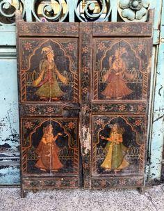 PERSE ou à identifier : Très ancienne paire de portes Persane