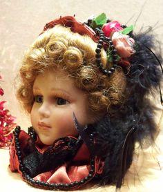 Victorian Christmas Ornaments | Porcelain Victorian Doll Head Christmas Ornament | eBay