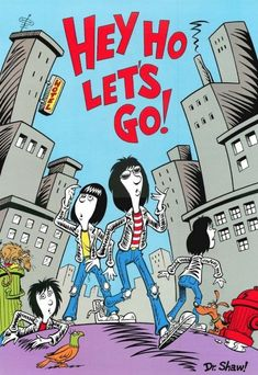 Ramones Comic Book P. - Our Ramones Rock Posters, Band Posters, Concert Posters, Art And Illustration, Ramones, Geeks, Hey Ho Lets Go, Rockn Roll, Post Punk
