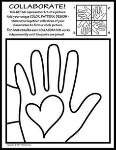 """Collaborative practice in the classroom can facilitate acceptance, cooperation and teamwork. This collaborative activity was created from the rubric of one of my most popular resources and will be offered """"free forever"""" as part of my own collaboration with teacher/authors here on TpT who are committed, as I am, to teach and model tolerance, respect, empathy and compassion for all children in our classrooms and communities.The concept is simple the results are awesome!"""