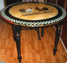 Hand Painted French Country Bristo Style Table by Cheryl Hoppe, via Flickr