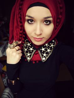 *_* #hijab #red