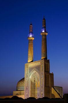 :::: PINTEREST.COM christiancross :::: Jameh Mosque, Yazd, Iran