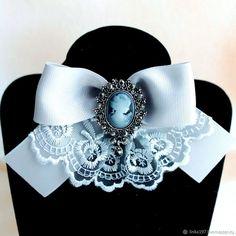 Галстук-брошь – купить или заказать в интернет-магазине на Ярмарке Мастеров | Самый громкий цвет в мире моды-серый. Любимый…