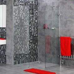 All About Walk in Shower Ideas : Walk In Shower Ideas With Grey Tiles