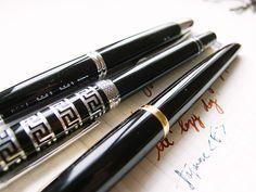 Waterman Carène Black Sea Fountain Pen Review Fountain Pen Reviews, Work Tools, Black Sea, Fountain Pens, Elegant, Classy, Fountain Pen, Chic