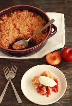 PRUIMEN CRUMBLE, eenvoudig dessert om overtollige pruimen in te verwerken