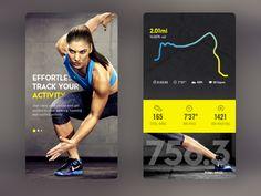 Daily UI #54.1- Fitness Tracker