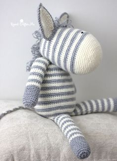 Yarnspirations released an adorable new FREE lookbook filled with patterns for baby! You can see my review of it HERE. One of my favorite patterns was the Knit Zebra…but since I don't knit, I asked Ya