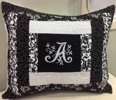 Items similar to Special Order Monogrammed Quilted Pillow x L on Etsy Modern Pillows, Quilted Pillow, Monogram, Throw Pillows, Quilts, Sewing, Diy, Do It Yourself, Cushions