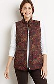 tall heritage quilted paisley vest from J.Jill quilted vest