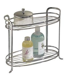 Another great find on #zulily! Chrome Two-Tier Axis Shelf by InterDesign #zulilyfinds